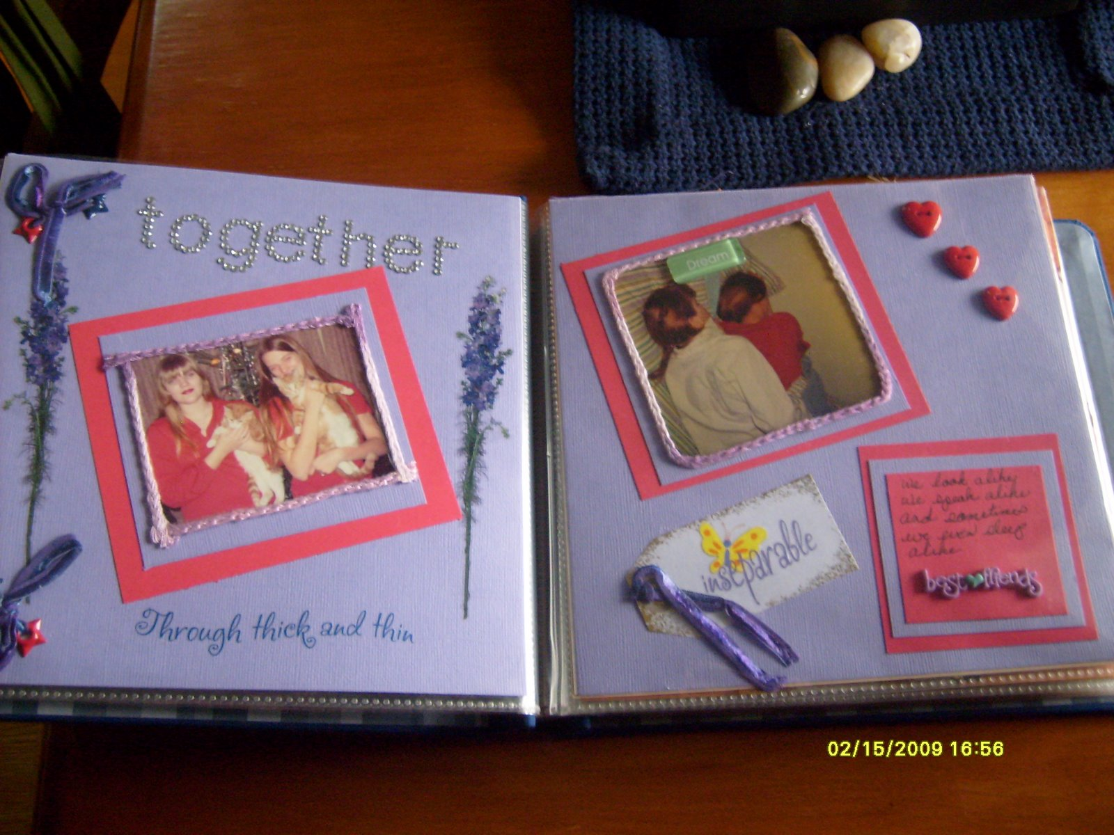 How to scrapbook memories - Today My Younger Sister Gave Me A Gift Of Memories A Scrapbook Of The Two Of Us Through The Years From Toddlers To The Present Time Just Us No One Else